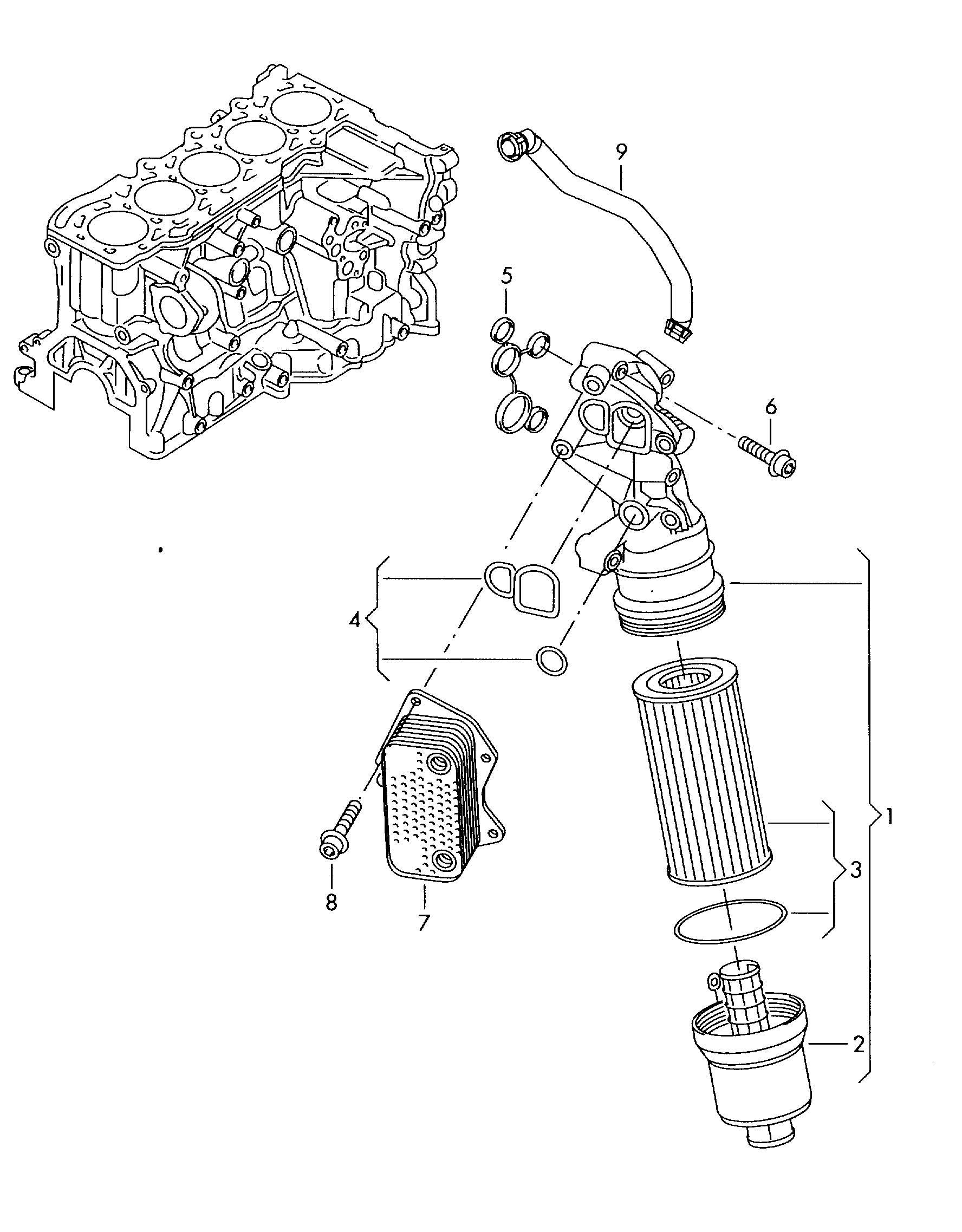 oil filter adapter oil filter 2 5ltr