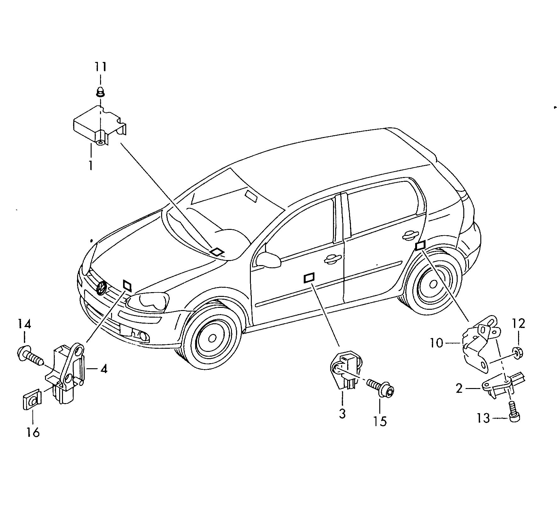 airbag sensor 2005 beetle convertible