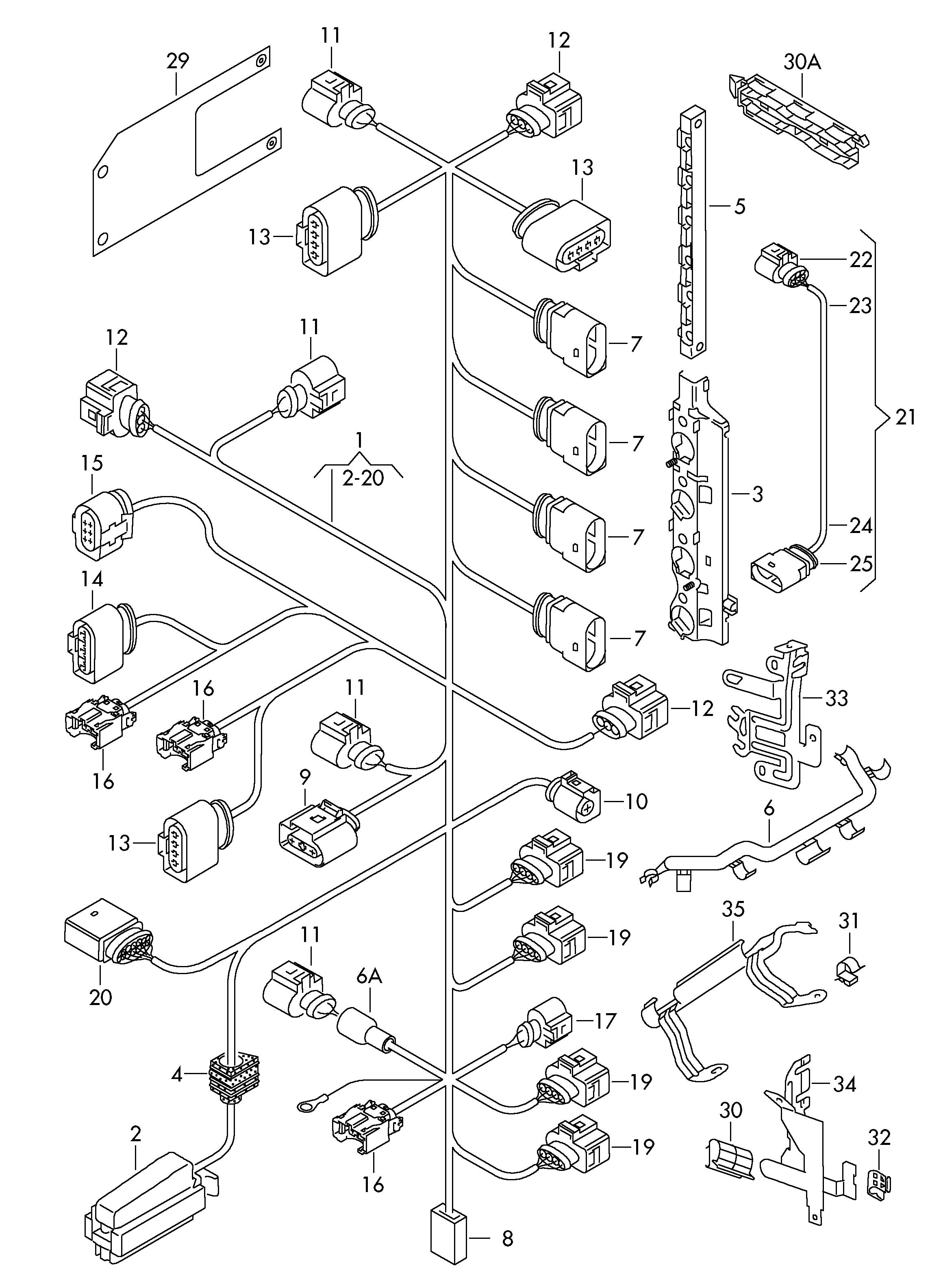 Volkswagen eos single parts which do not adapter