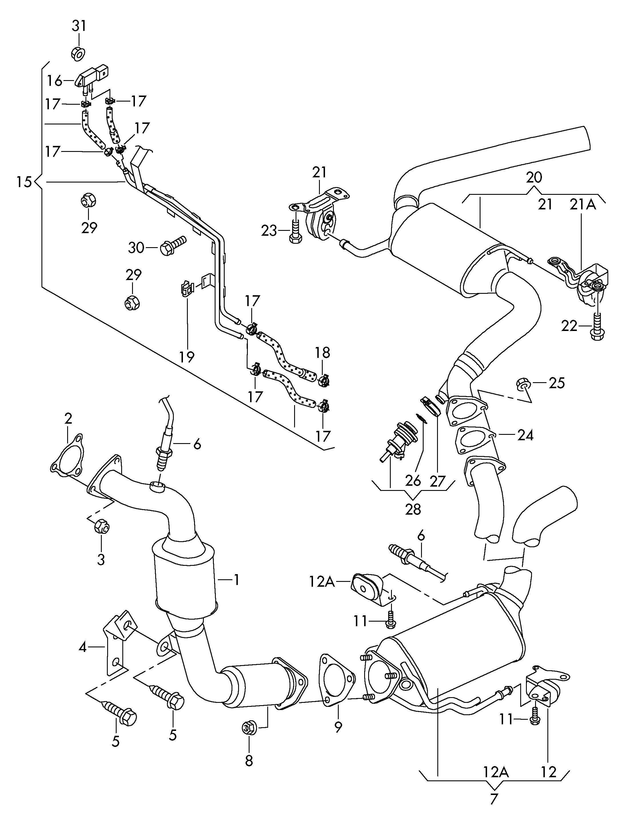 2004 vw r32 exhaust diagram