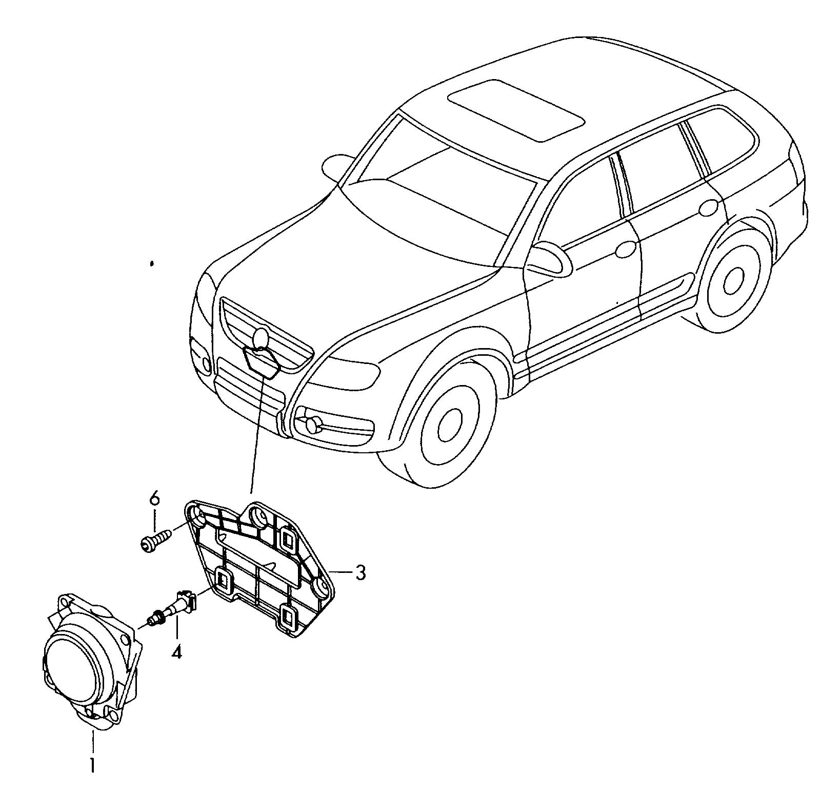 Volkswagen Atlanta: Volkswagen Touareg Radar Sensor Bracket Also Use