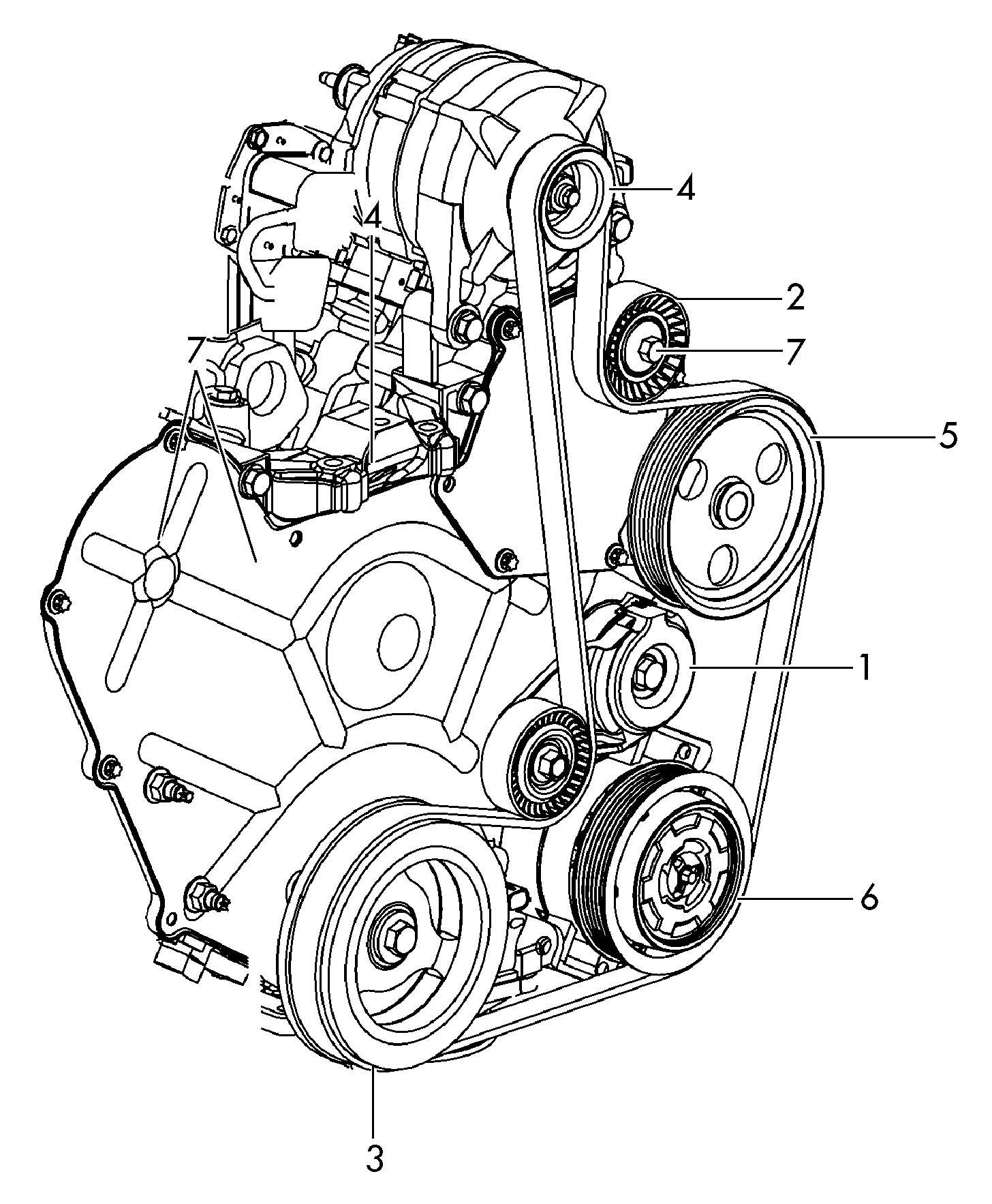 Volkswagen Routan A  C Compressor Clutch Pulley