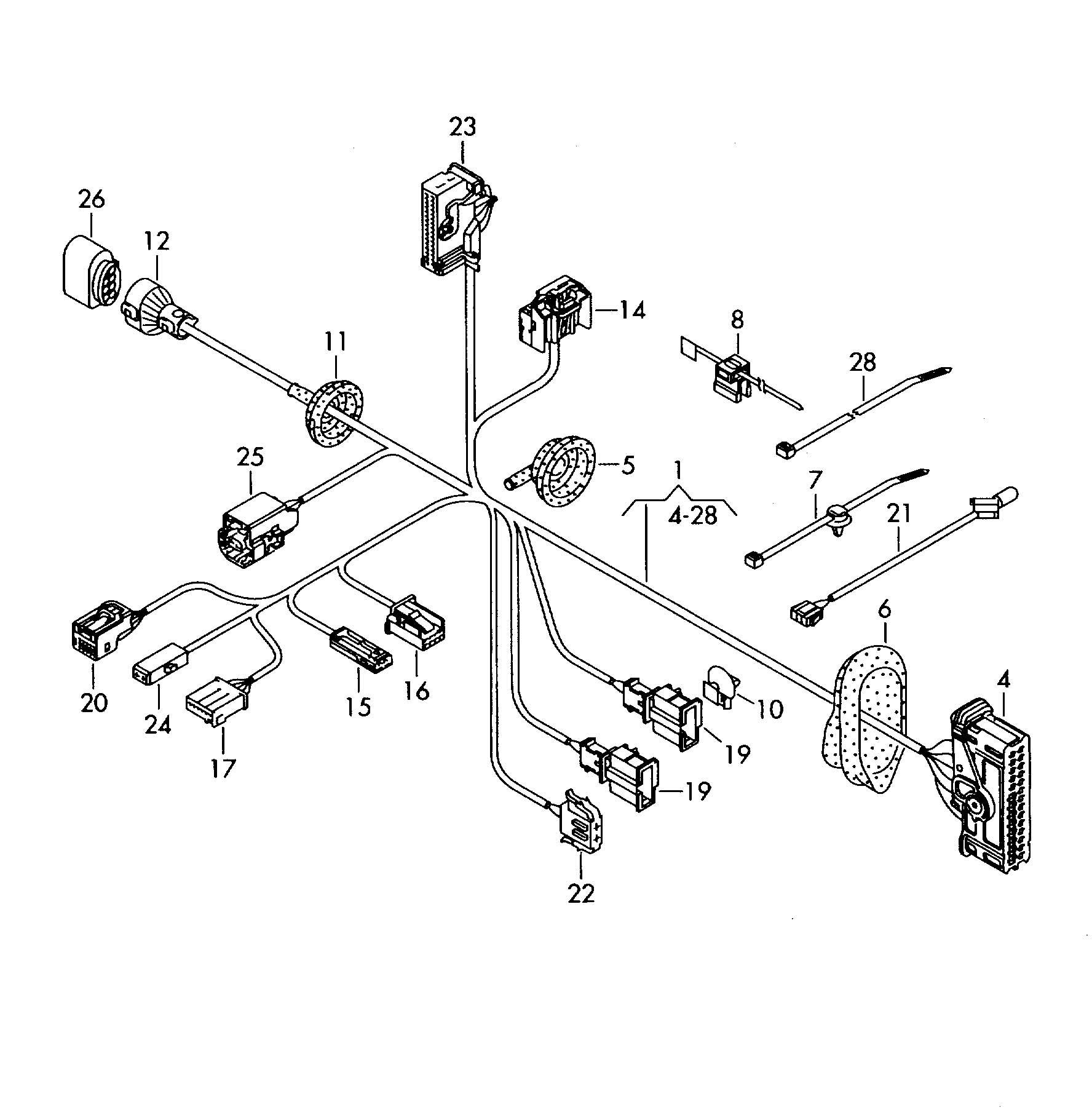 volkswagen tiguan harness for door single parts  drivers