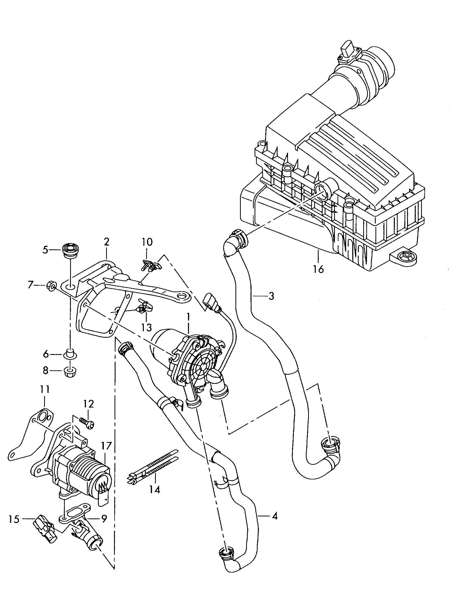 volkswagen passat cc connecting hose