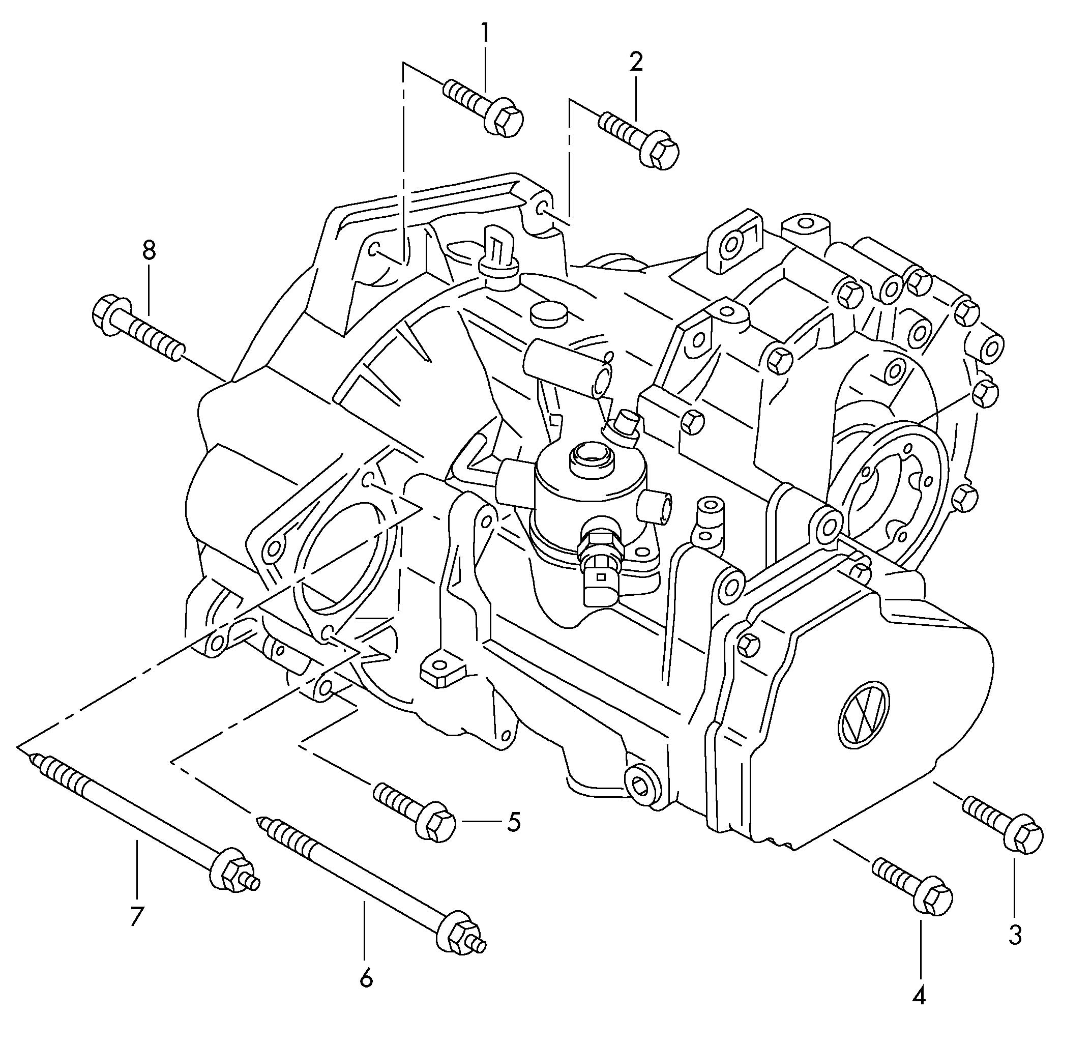 Volkswagen Jetta Mounting Parts For Engine And Transmission For 5 Speed Manual Transmiss  5