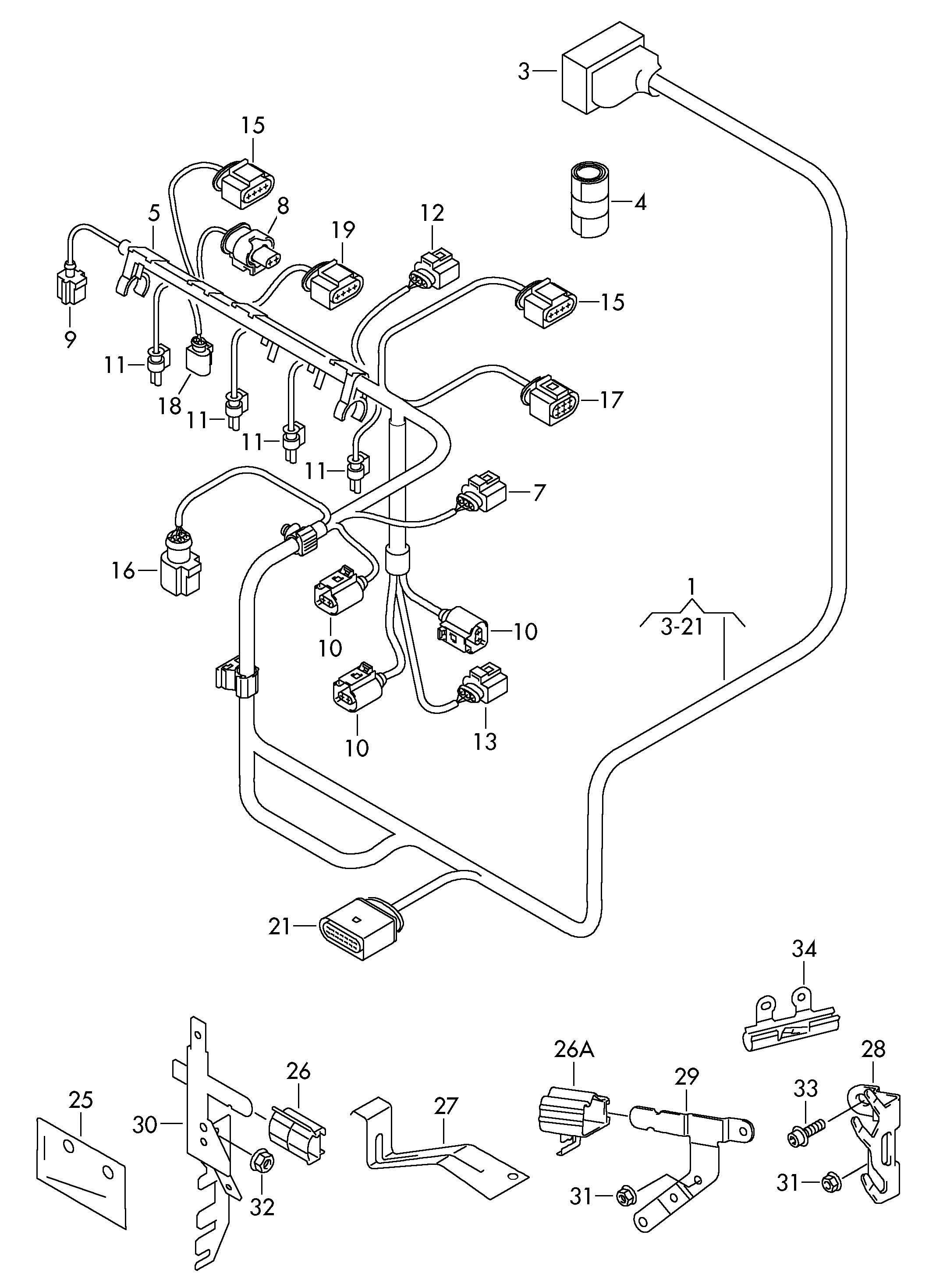 81 volkswagen rabbit wiring harness  volkswagen  auto
