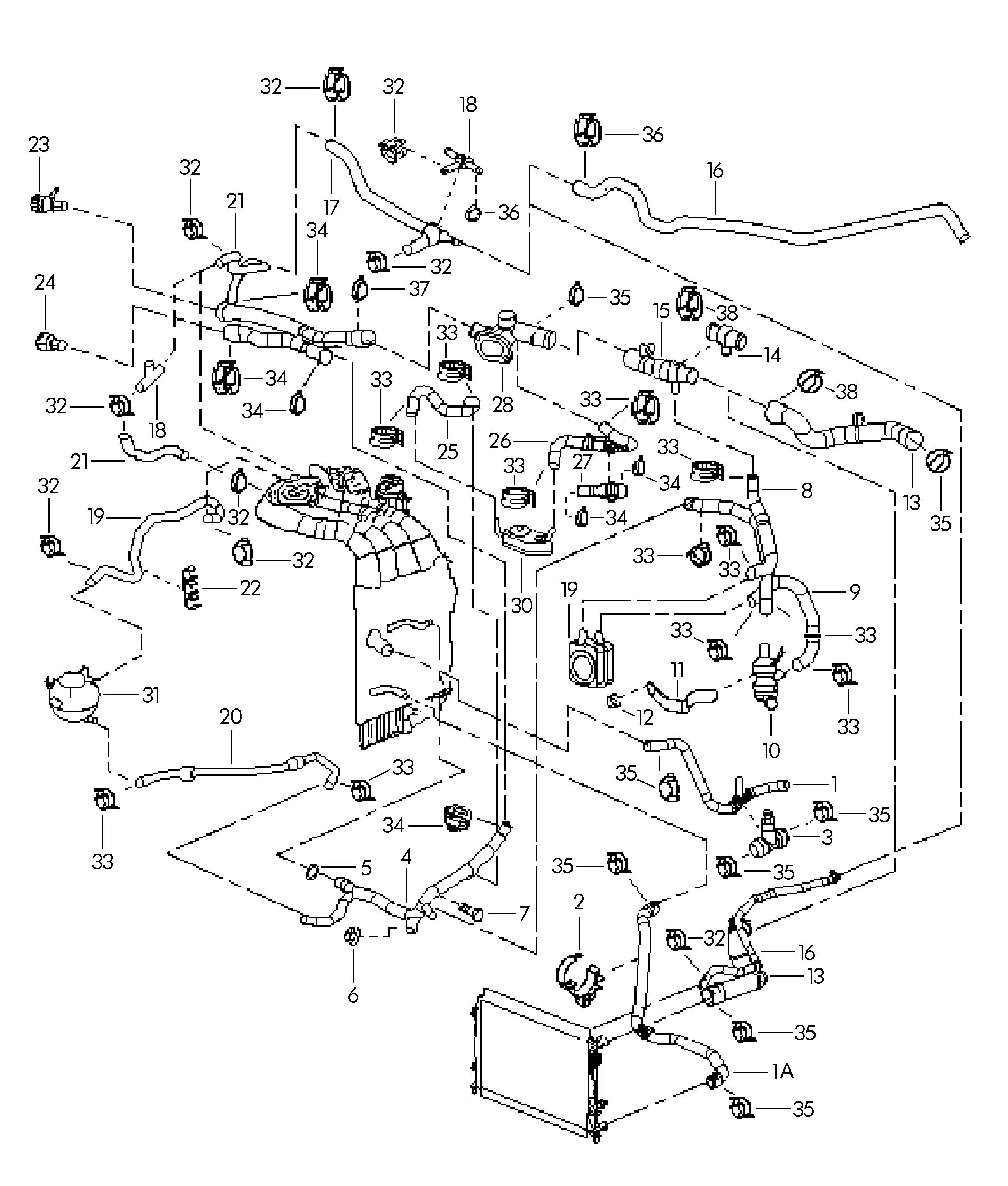 Water cooling Jetta (MEX / JEM): CBPA; otto engine  for Volkswagen (VW  #343434