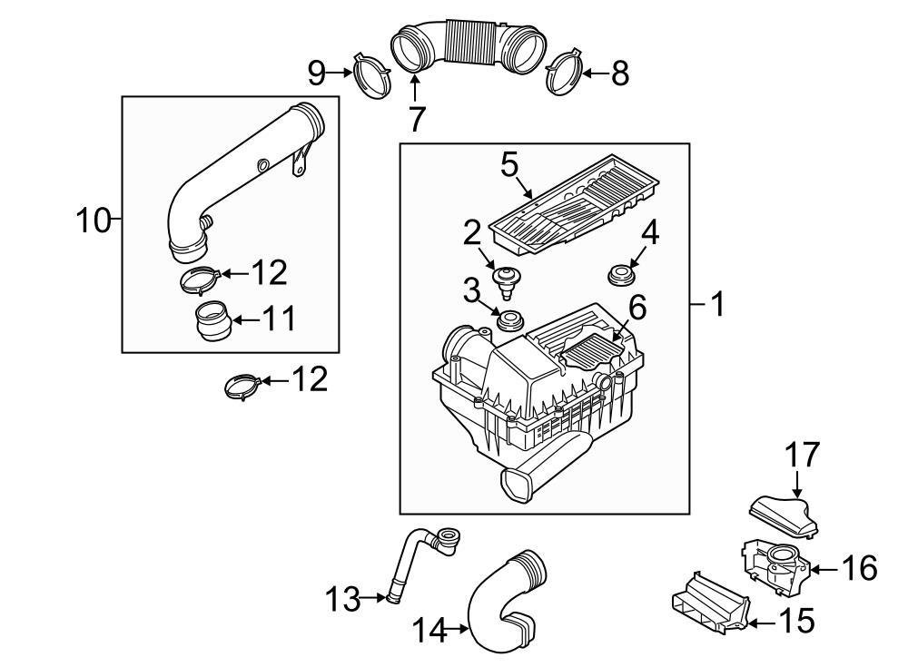 Volkswagen Passat Air duct. Engine Air Intake Hose ...
