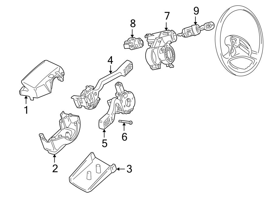 1999 Volkswagen Eurovan Steering Lock With Key Lock System