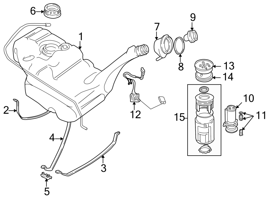 1999 Volkswagen Eurovan For Vehicles With Auxiliary Flange