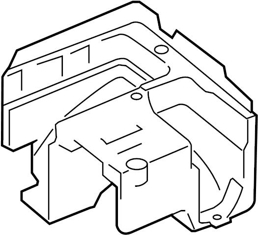 volkswagen rabbit bracket - relay plate  fuse box  bracket relay plate