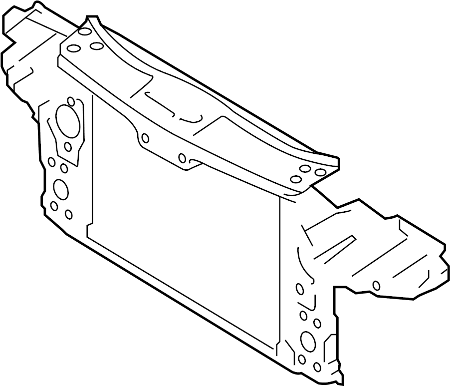 Volkswagen VW Lock Carrier With Mounting For