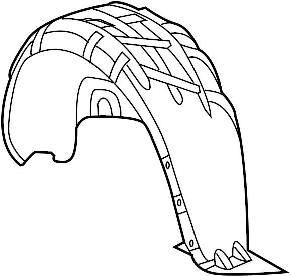 volkswagen beetle gsr hatchback 2 0l lev a  t fender liner
