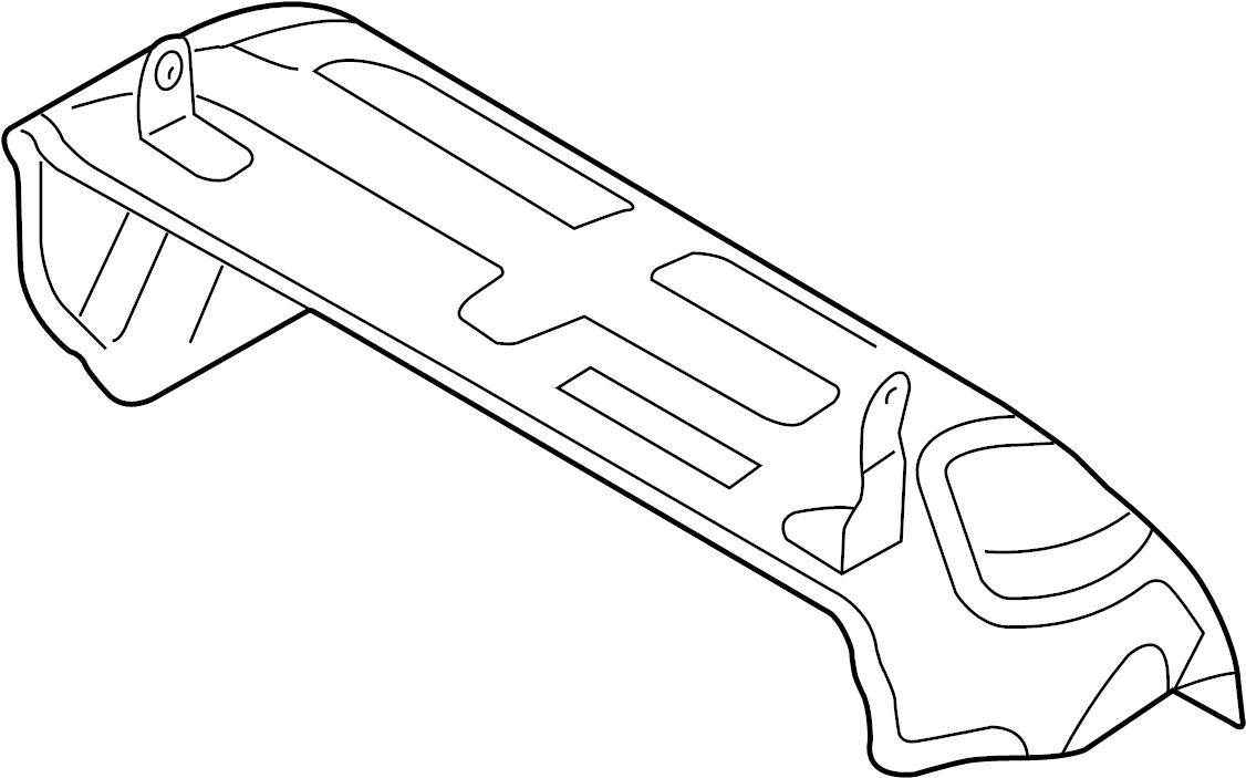 volkswagen touareg shield  cover plate