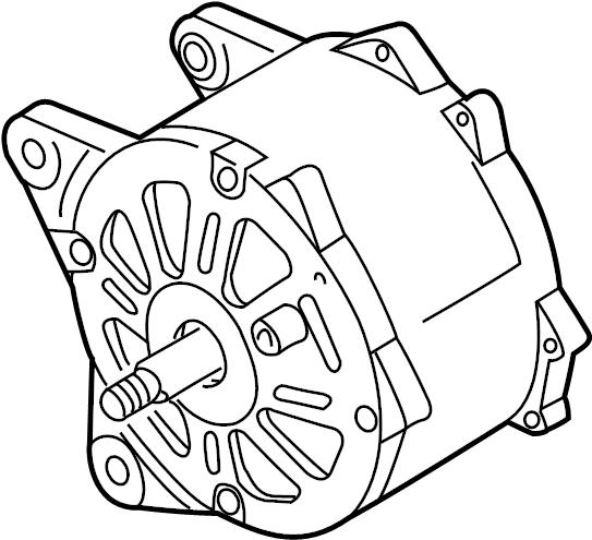 06b903019ex Volkswagen Alternator Group Exchange