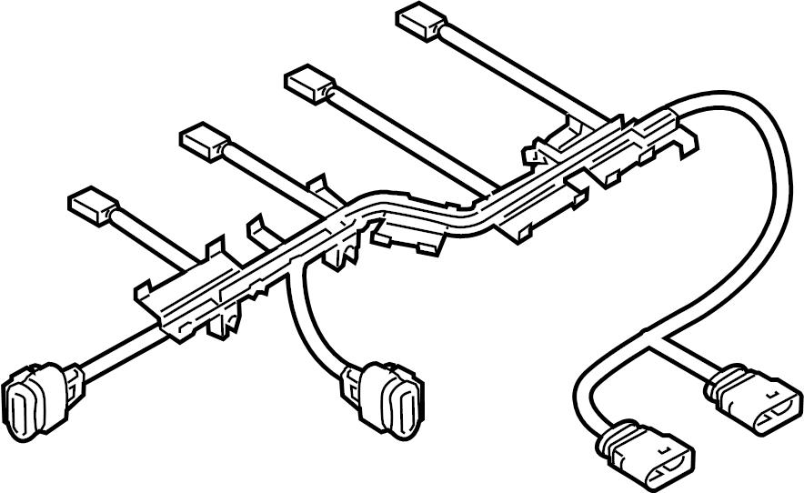 2011 volkswagen passat cc injector harness  wire harness