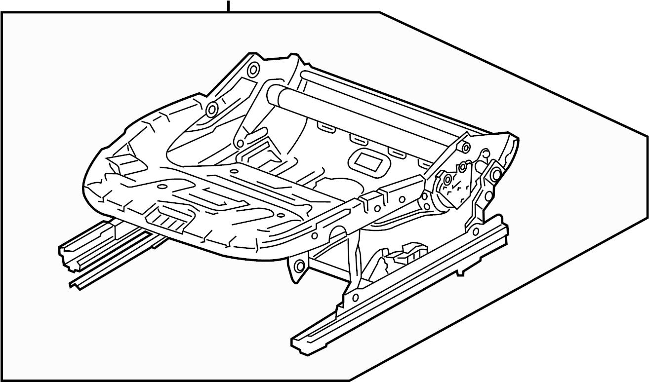 volkswagen jetta hybrid seat frame with height adjustment