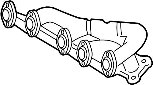 volkswagen eurovan 2 5l 5 cylinder exhaust manifold
