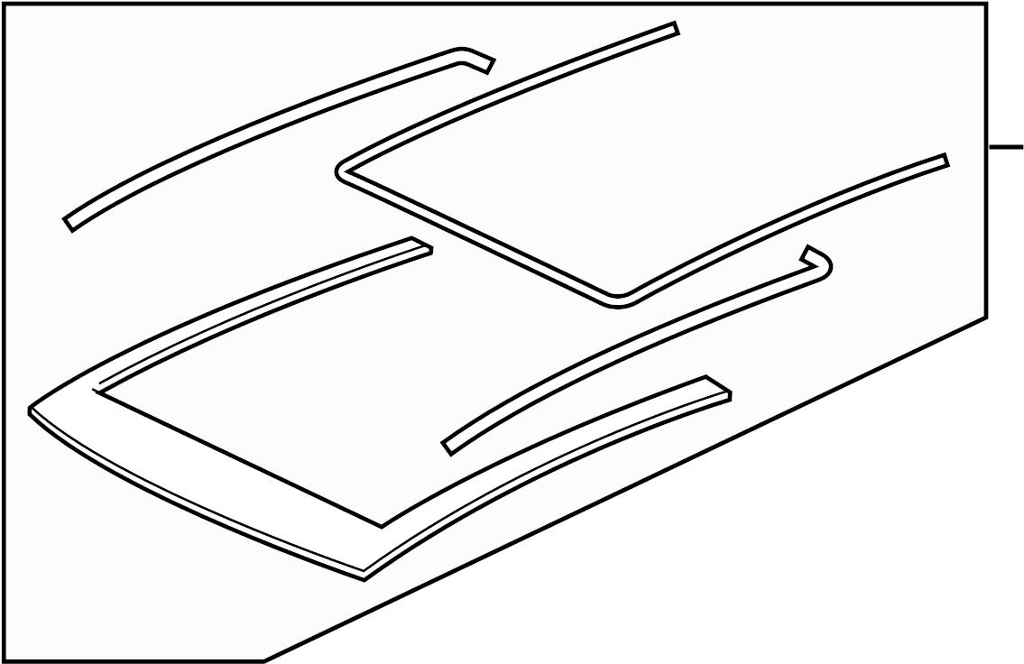volkswagen gti panel assy  sunroof guide rail