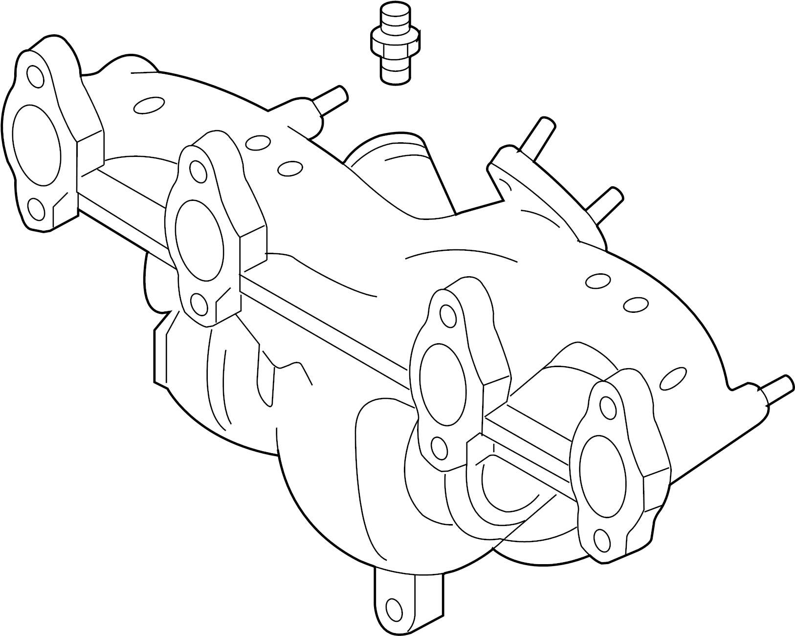 volkswagen jetta 1 9l tdi exhaust manifold with turbo