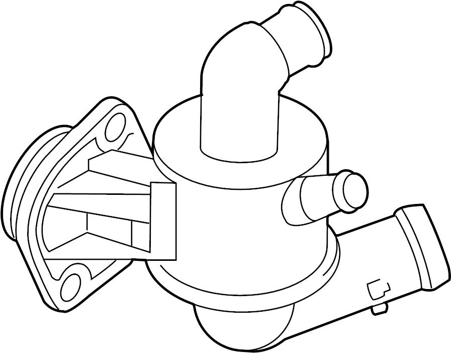 volkswagen golf variant coolant thermostat housing with