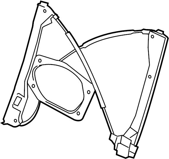 2008 volkswagen rabbit window regulator without motor