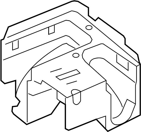 volkswagen rabbit bracket  fuse box  bracket
