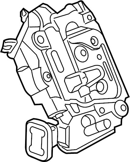 volkswagen jetta door latch assembly  door lock actuator