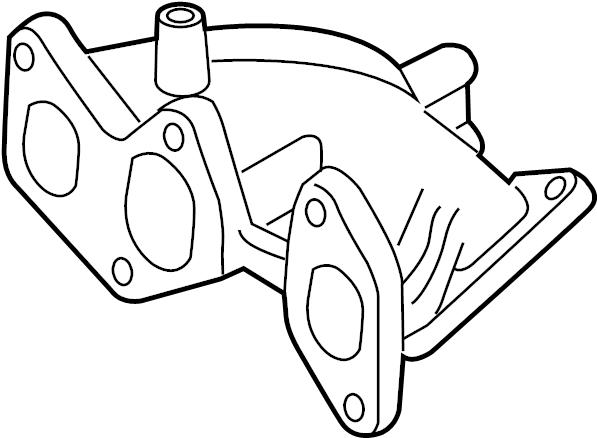 Volkswagen R32 Exhaust Manifold Iron Cast 022253031n