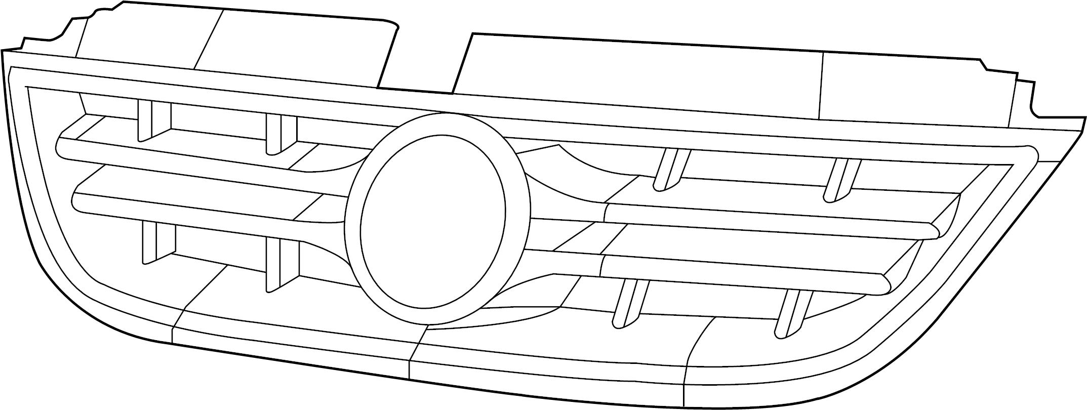 volkswagen routan radiator grille bright 7b0853653b. Black Bedroom Furniture Sets. Home Design Ideas